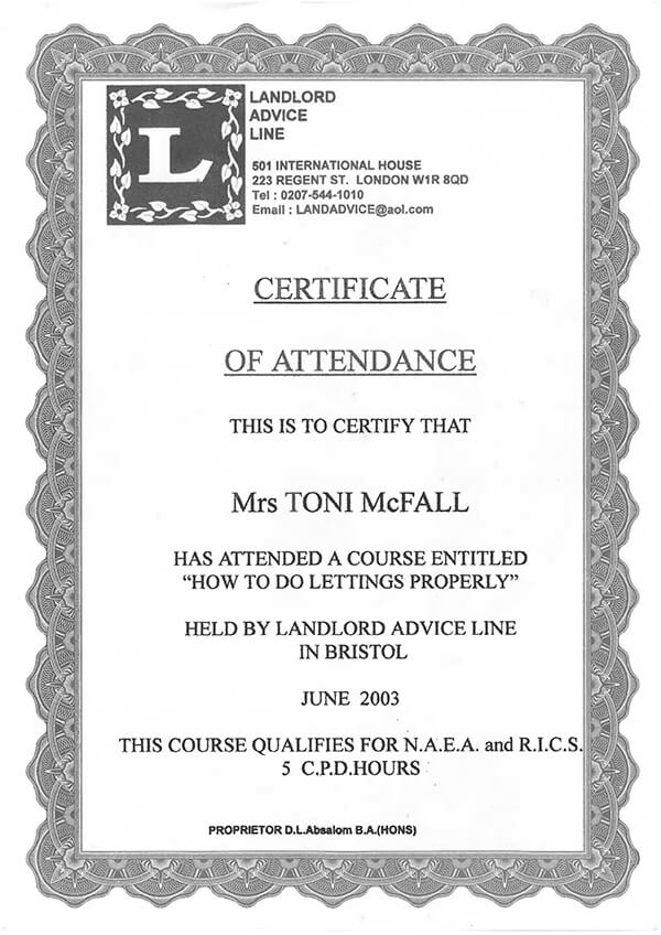 LAL certificate